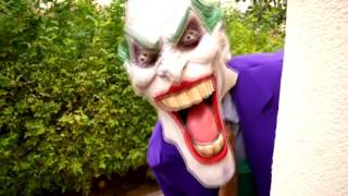 RECKLESS JOKER Crushes SpiderBaby Toys Under Car! w/ Spiderman Hulk Barbie Power Wheels in Real Life