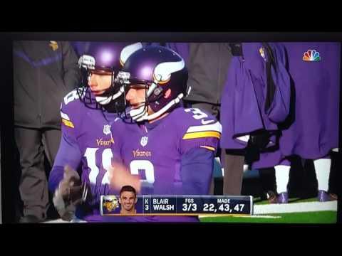 Minnesota Vikings miss field goal and lose