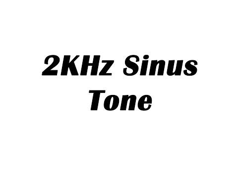 2KHz Sine Wave Test Tone (1 Hour)