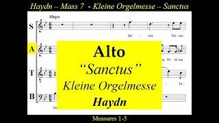 Haydn Kleine Orgelmesse Hob XXII 7 Sanctus Alto