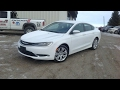 2016 Chrysler 200 Limited Sedan Start Up, Full Tour and Review