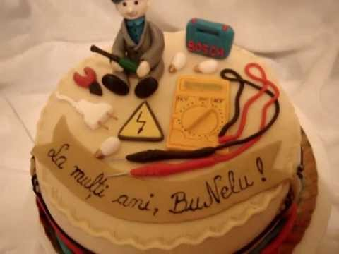 Electrician Fondant Cake YouTube