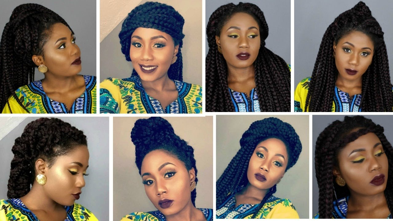 Box Braids Hairstyles Youtube: 12 Easy Crochet Big Box Braids Hairstyles