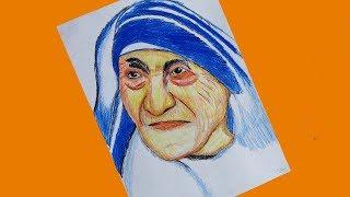 Mother Teresa Draw tutorial (very Easy)