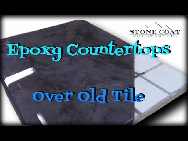 epoxy countertops over old tile youtube