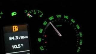 Tuned Skoda Octavia RS 2008 V-Tech Acceleration Tacho