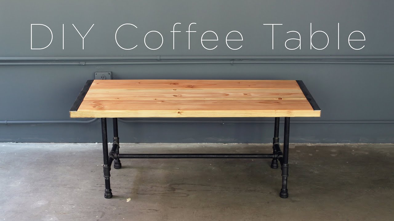 Diy Farmhouse Table With Metal Legs Diy Pipe Coffee Table