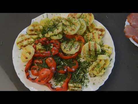 Готовим овощи на электрогриле