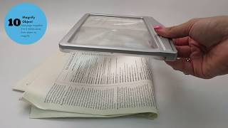 How to Video on MagniPros 3X Page Reading Magnifier