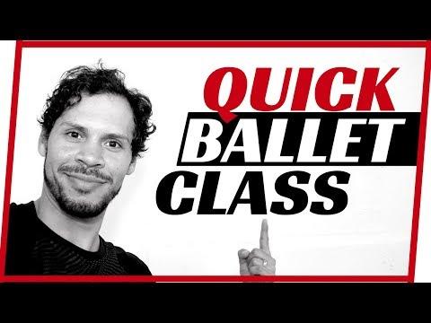 Quick ballet barre - ballet class barre- ballet class for beginners