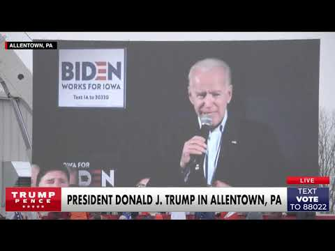 MUST WATCH: President Trump plays a DEVASTATING video for Joe Biden in #Pennsylvania!