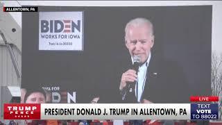 MUST WATCH: President Trump plays a DEVASTATING video for Joe Biden in #Pennsylvania!