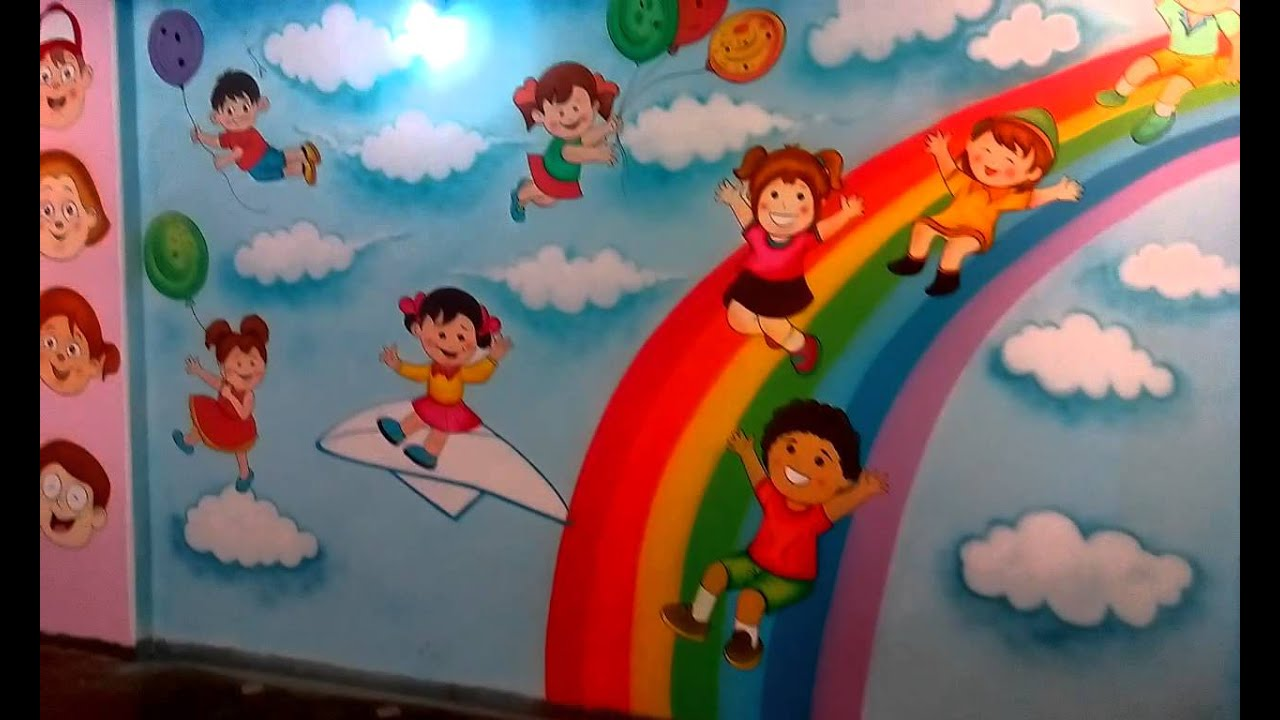 Preschool Playschool Classroom Wall Theme Painting Mumbai