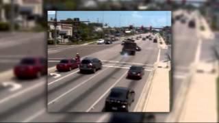 SNN:  Heart Stopping Video of Dump Truck Running Red Light
