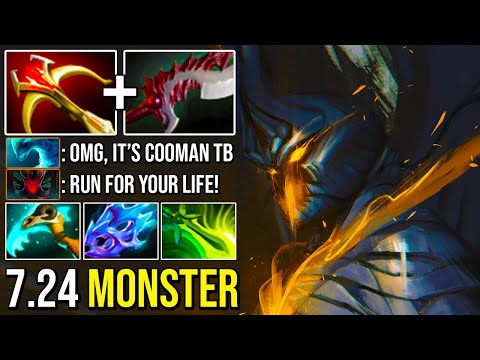 TRULY 7.24 MONSTER Imba Right Click Terrorblade Deleted Everyone Crazy Damage By Cooman Dota 2