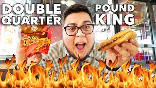 Burger King Double Quarter Pound King & Flamin' Hot Mac n' Cheetos Review - Full Nelson Eats A Lot