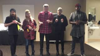 On April 14th during their 2016 tour I was able to meet Pentatonix ...