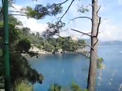 Driving north from Portofino, Italy along the Mediterranean coast