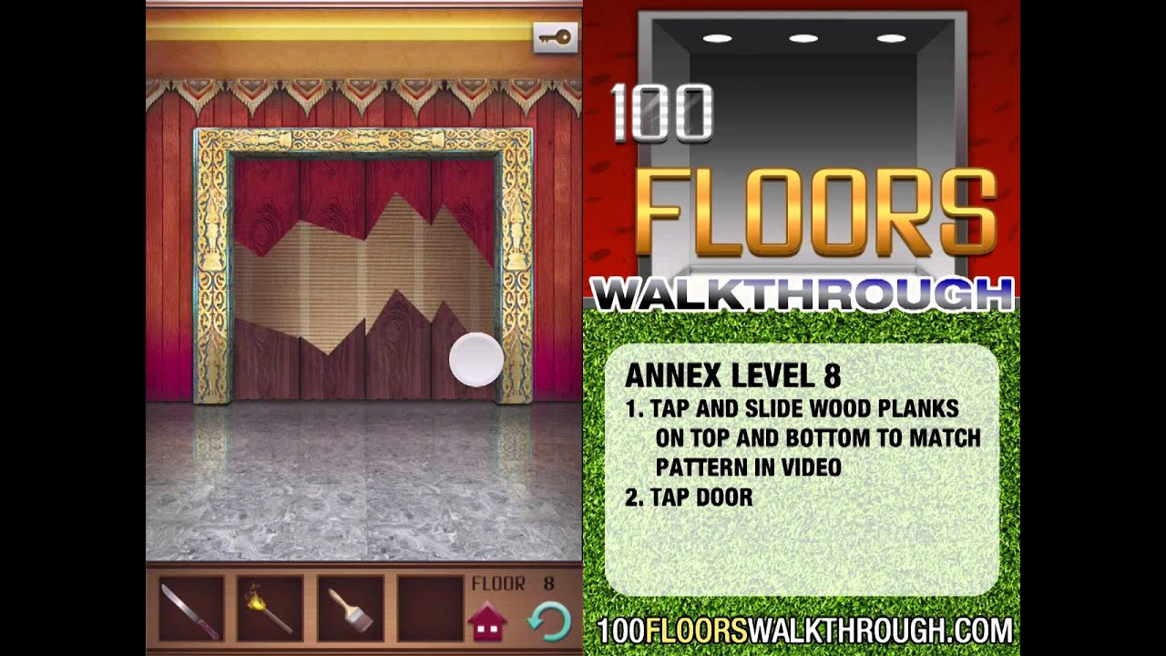 100 Floors Walkthrough Annex Floor 8 Walkthrough 100