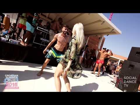 Panagiotis Aglamisis & Nina - Salsa social dancing   Croatian Summer Salsa Festival, Rovinj 2018
