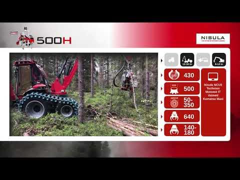 Video brochure of Nisula 500H harvester head