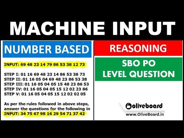 Machine Input Output SBI PO Level Problem (Number Based Question कैसे ATTEMPT करे )