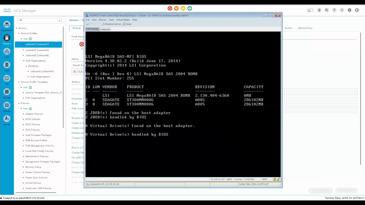 Part 1 Cisco UCS setup with ESXi