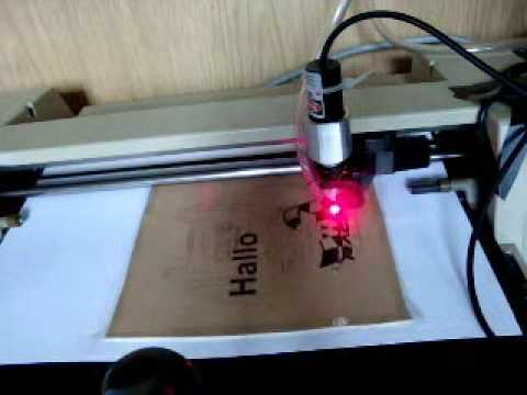 Diy Cnc Laser Plotter Engraving Synthetic Leather Youtube