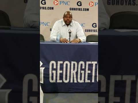 Georgetown Head Coach Patrick Ewing after win over Seton Hall