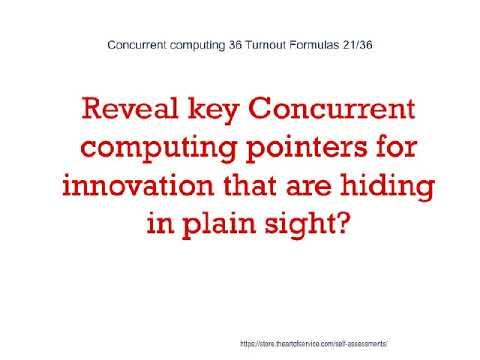 Concurrent computing 36 Turnout Formulas