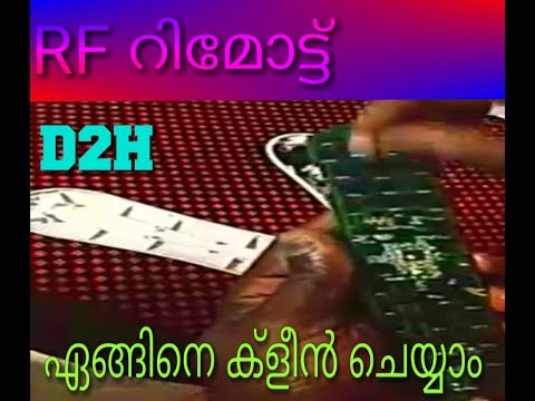 Videocon d2h How to clean an RF remote, Videocon  D2H