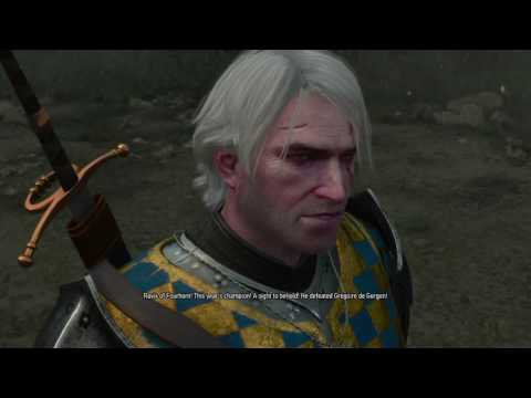 The Witcher 3 DLC: Blood and Wine pt14 - Geralt vs. the WORLD (in swordfighting)