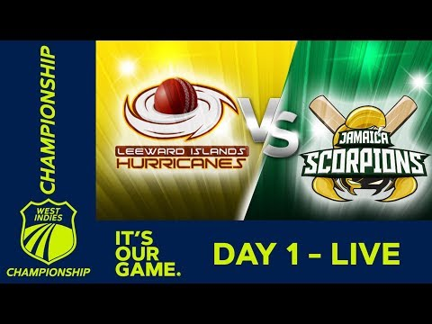 *LIVE West Indies Championship* - Day 1 | Leewards v Jamaica  | Thursday 31st January 2019
