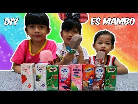 DIY Es Mambo Ultra Milk, Bikin Es Krim Stik Paling Mudah??? Es Krim Milo   DIY Easy Ice Cream
