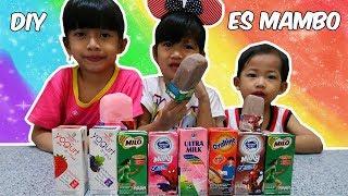 DIY Es Mambo Ultra Milk, Bikin Es Krim Stik Paling Mudah??? Es Krim Milo | DIY Easy Ice Cream