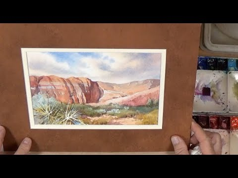 Roland Lee Watercolor Workshop - # 3 How to Paint Desert Sand and Sky