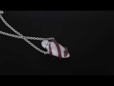 Theo Fennell Ruby and Diamond Ampoule Snake Pendant M1659