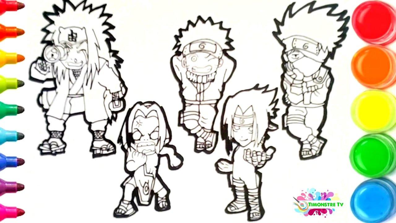 Dessin et coloriage Naruto Chibi/ draw and color Naruto for kids TT40