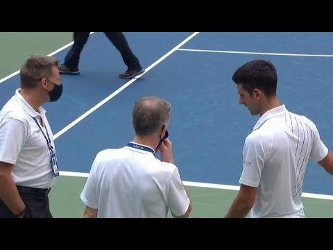 Novak Djokovic Is Defaulted From The Us Open 2020 Youtube