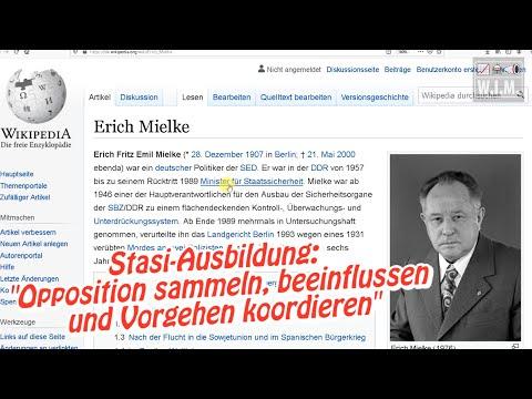 """""""Opposition sammeln, beeinflussen und Vorgehen koordieren"""" Stasi-Chef Erich Mielke genau zuhören!"""