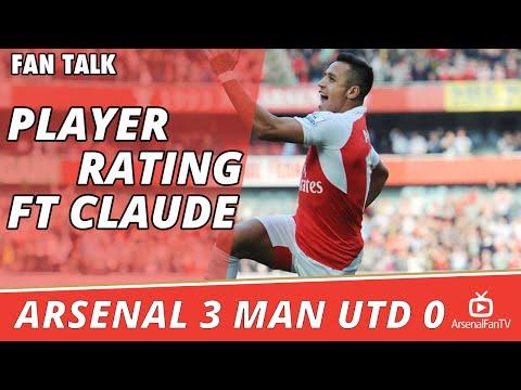 Match Player Ratings Ft Claude - Arsenal 3 Man Utd 0