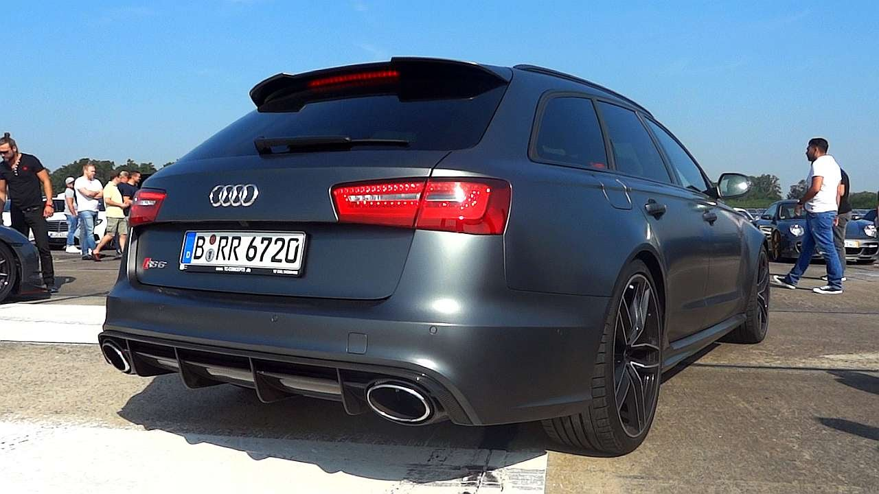 audi rs6 avant exhaust sound youtube