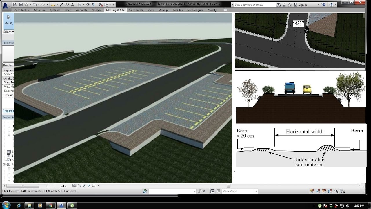 Bim Revit Site Design 04 Creating Parking Slope Pad