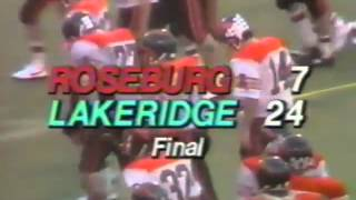 LAKERIDGE 1987 STATE FOOTBALL GAME FINAL MINUTE AND CELEBRATION