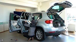 Встановлення шумоізоляції  на автомобіль Volkswagen Tiguan.