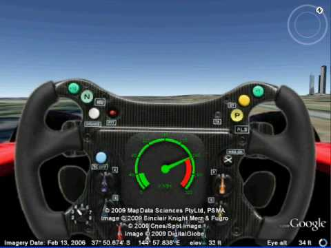 Formula One Drive Tour In Google Earth Youtube