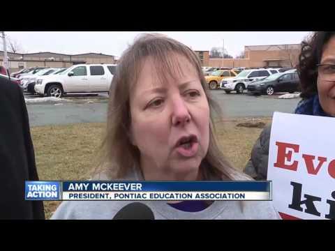 Rally at Pontiac High School
