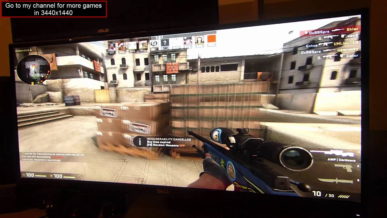 Csgo 169 Aspect Ratio Stretched To 219 2560x1440 On 3440x1440 Monitor