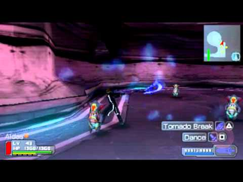 Phantasy Star Portable PSP gameplay