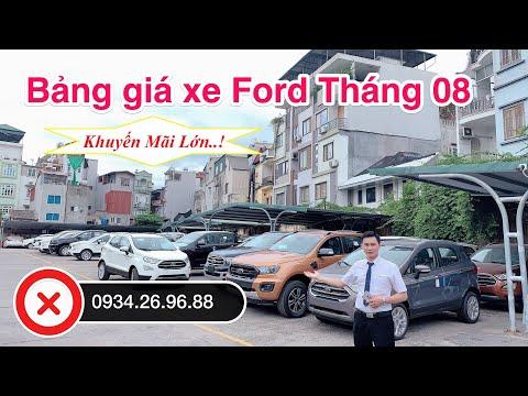 ✅ Bảng giá xe Ford mới nhất tháng 08 - Ford Ecosport - Ford Ranger - Ford Everest